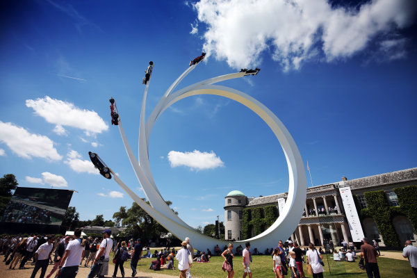 2017 Goodwood Festival of Speed. Goodwood Estate, West Sussex, England. 30th June - 2nd July 2017. Bernie Ecclestone Scuplture World Copyright : JEP/LAT Images