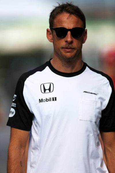 Sepang International Circuit, Sepang, Kuala Lumpur, Malaysia. Friday 27 March 2015. Jenson Button, McLaren. World Copyright: Alastair Staley/LAT Photographic. ref: Digital Image _79P4648