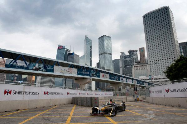 2016/2017 FIA Formula E Championship. Hong Kong ePrix, Hong Kong, China. Saturday 8 October 2016. Jean-Eric Vergne (FRA), Techeetah, Spark-Renault, Renault Z.E 16.  Photo: Alastair Staley/LAT/Formula E ref: Digital Image 580A9199