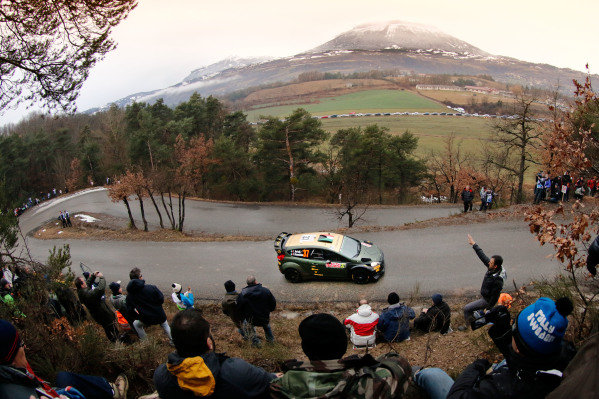 www.sutton-images.com - Lorenzo Bertelli (ITA) / Giovanni Bernacchini (ITA) Ford Fiesta RS WRC at the FIA World Rally Championship, Rd1, Rally Monte Carlo, Preparatons and Shakedown, Monte Carlo, 22 January 2015. Photo Sutton Images