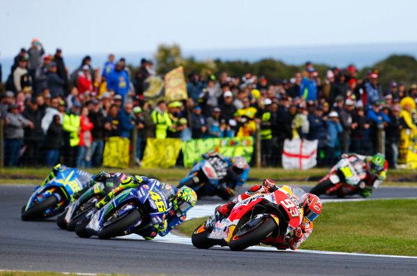 2017 MotoGP Championship - Round 16 Phillip Island, Australia. Sunday 22 October 2017 Marc Marquez, Repsol Honda Team World Copyright: Gold and Goose / LAT Images ref: Digital Image 24525