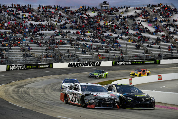 Monster Energy NASCAR Cup Series First Data 500 Martinsville Speedway, Martinsville VA USA Sunday 29 October 2017 Corey LaJoie, BK Racing, Schluter Systems Toyota Camry, Erik Jones, Furniture Row Racing, SiriusXM Toyota Camry World Copyright: Scott R LePage LAT Images ref: Digital Image lepage-171029-mart-8503