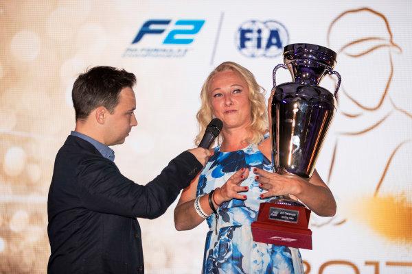 2017 Awards Evening. Yas Marina Circuit, Abu Dhabi, United Arab Emirates. Sunday 26 November 2017.  Photo: Zak Mauger/FIA Formula 2/GP3 Series. ref: Digital Image _56I3900