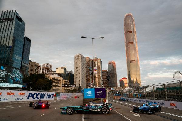 2017/2018 FIA Formula E Championship. Round 1 - Hong Kong, China. Saturday 02 December 2017. Mitch Evans (NZL), Panasonic Jaguar Racing, Jaguar I-Type II. Photo: Sam Bloxham/LAT/Formula E ref: Digital Image _J6I3730