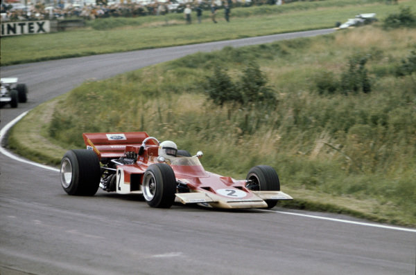 1970 International Gold Cup.  Oulton Park, Cheshire, England. 22nd August 1970.  Jochen Rindt, Lotus 72 Ford.  Ref: 70GC01. World Copyright: LAT Photographic