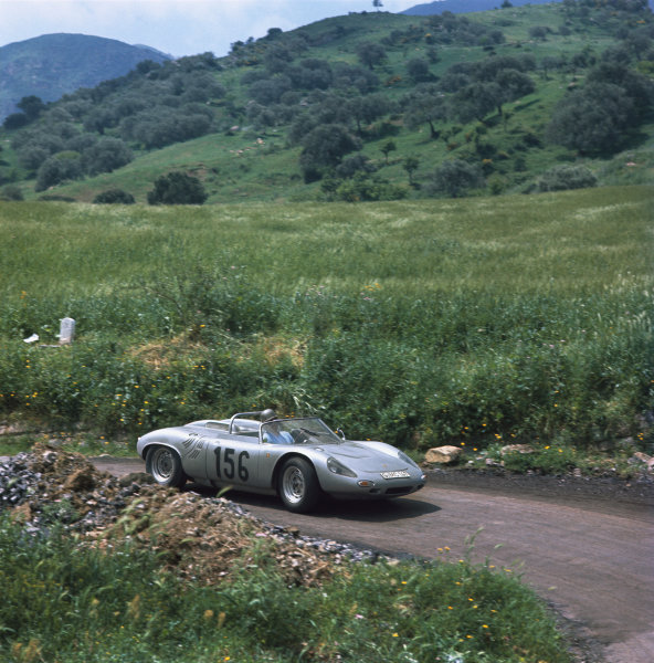 Little Madonie Circuit, Sicily, Italy. 5th May 1963 Umberto Maglioli/Giancarlo Baghetti (Porsche 718 WRS), 7th position, action World Copyright: LAT Photographic Ref: 873