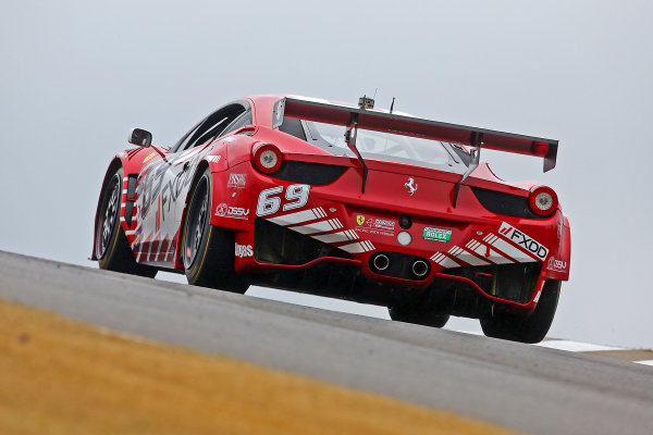 4-6 April, 2013, Birmingham, Alabama USA The #69 Ferrari of Emil Assentato and Anthony Lazzaro is shown in action on test day ©2013, R D. Ethan LAT Photo USA