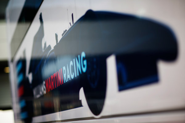Red Bull Ring, Spielberg, Austria. Friday 19 June 2015. Williams Martini Racing logo on the side of the trucks. World Copyright: Alastair Staley/LAT Photographic. ref: Digital Image _R6T0840