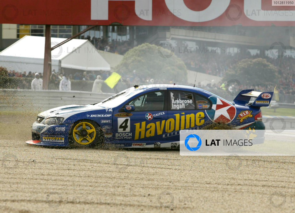 2003 Australian V8 Supercars, Round 9, Sandown, 14th September 2003.Ambrose/Ingall in the gravel.Photo: Mark Horsburgh/LAT Photographic