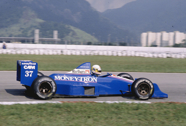 1989 Brazilian Grand Prix.Jacarepagua, Rio de Janeiro, Brazil. 24-26 March 1989.Bertrand Gachot (Onyx ORE-1 Ford). Ref-89 BRA 28.World Copyright - LAT Photographic