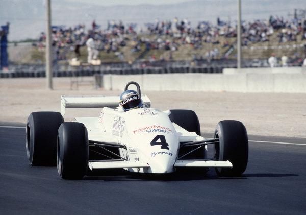 1981 Caesars Palace Grand Prix.Las Vegas, Nevada, USA.15-17 October 1981.Michele Alboreto (Tyrrell 011 Ford) 13th position.Ref-81 LV 34.World Copyright - LAT Photographic