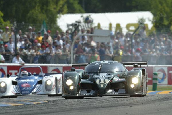 2003 Le Mans 24 HoursLe Mans, France. 14th June 2003The Bentley GTP of Brabham/Herbert/Blundell, action.World Copyright: Glenn Dunbar/LAT Photographicref: Digital Image Only
