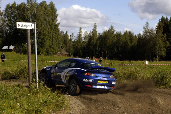2003 FIA World Rally Champs. Round nine, Neste Rally Finland. Rally7th-10th August 2003.Guy Wilks, Ford Puma 1600, action.World Copyright: McKlein/LAT