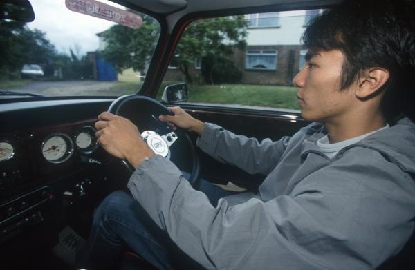 Takuma Sato Takuma Sato at home feature, Reading, 2000