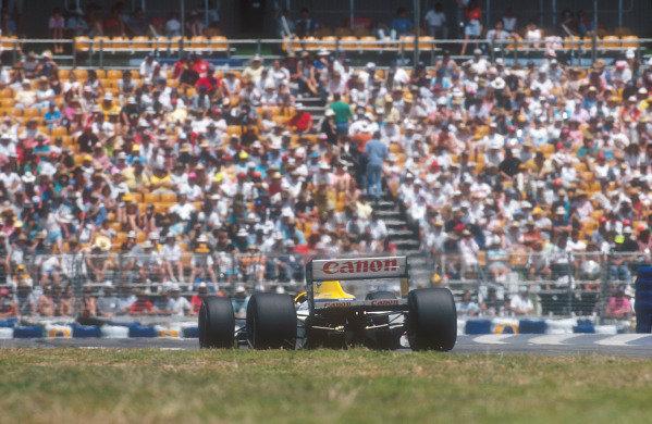 1990 Australian Grand Prix.Adelaide, Australia.2-4 November 1990.Riccardo Patrese (Williams FW13B Renault) 6th position.Ref-90 AUS 17.World Copyright - LAT Photographic
