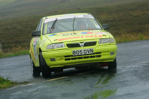 2002 British Rally Championship.Manx International Rally. Douglas, Isle of Man.1-3 August 2002.Linda Allan/Craig Greene (Vauxhall Astra).Ref-02 MIR 92.World Copyright - Malcolm Griffiths/LAT Photographic