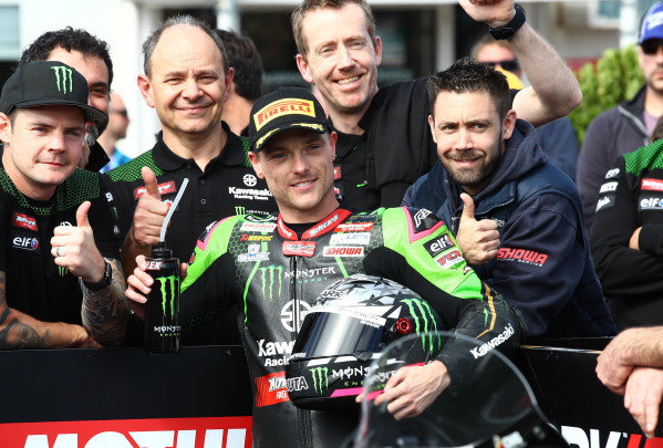 Second place Alex Lowes, Kawasaki Racing Team.