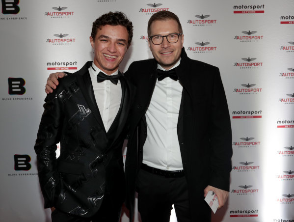 Lando Norris and Andreas Seidl, Team Principal, McLaren