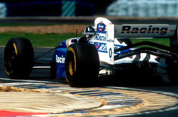 1994 British Grand Prix.Silverstone, England.8-10 July 1994.Damon Hill (Williams FW16 Renault) 1st position.Ref-94 GB 11.World Copyright - LAT Photographic