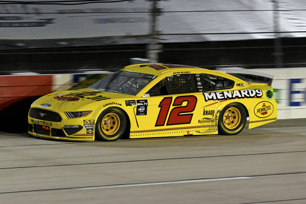#12: Ryan Blaney, Team Penske, Ford Mustang Menards/Pennzoil
