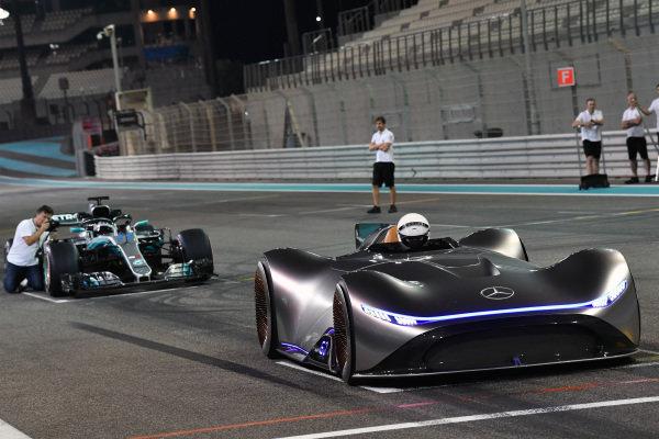 Mercedes-Benz, EQ Silver Arrow concept car and Valtteri Bottas, Mercedes-AMG F1 W09 EQ Power+
