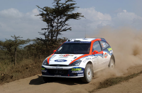 2002 World Rally Championship.Safari Rally, Nairobi Kenya, July 11-14th.Carlos Sainz during shakedown.Photo: Ralph Hardwick/LAT