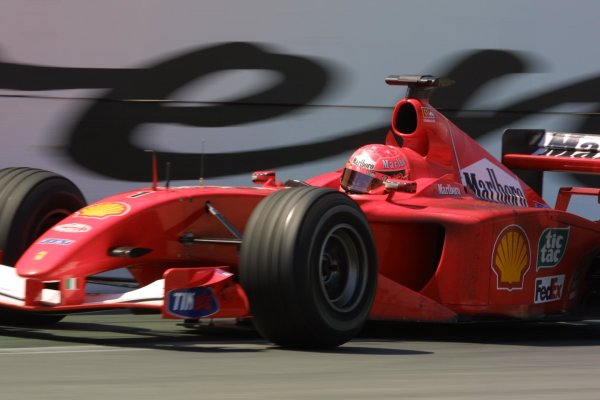 2001 Canadian Grand Prix - RACEMontreal, Canada. 10th June 2001Michael Schumacher (Ferrari F2001), 2nd position.World Copyright - LAT PhotographicRef: 8 9 MB Digital File Only