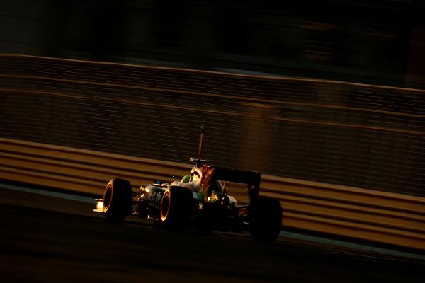 Yas Marina Circuit, Abu Dhabi, United Arab Emirates. Wednesday 26 November 2014. Spike Goddard, Force India VJM07 Mercedes. World Copyright: Glenn Dunbar/LAT Photographic. ref: Digital Image _89P9007