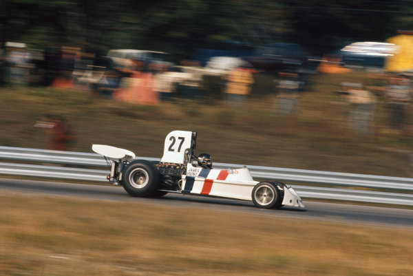 1973 Canadian Grand Prix.  Mosport Park, Ontario, Canada. 21st-23rd September 1973.  James Hunt, March 731 Ford, 7th position.  Ref: 73CAN34. World copyright: LAT Photographic