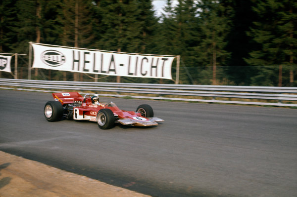 Osterreichring, Zeltweg, Austria. 14-16 August 1970.  Jochen Rindt, Lotus 72C Ford.  Ref: 70AUT06. World Copyright: LAT Photographic