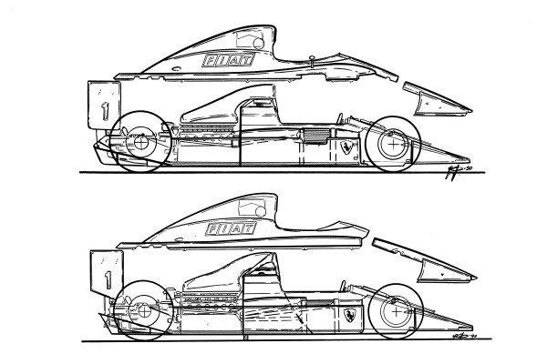Ferrari F1-90B (641/2) 1990 comparison with 641