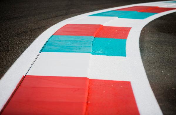 2017 GP3 Series Round 8.  Yas Marina Circuit, Abu Dhabi, United Arab Emirates. Thursday 23 November 2017. Kerb detail. Photo: Zak Mauger/GP3 Series Media Service. ref: Digital Image _X0W7347