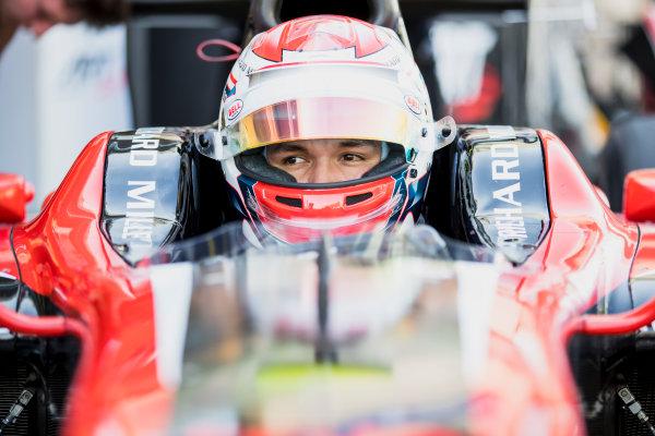 2017 FIA Formula 2 Round 11. Yas Marina Circuit, Abu Dhabi, United Arab Emirates. Friday 24 November 2017. Alexander Albon (THA, ART Grand Prix).  Photo: Zak Mauger/FIA Formula 2. ref: Digital Image _56I0214