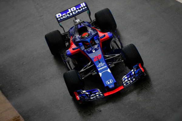 Circuit de Catalunya, Barcelona, Spain. Wednesday 28 February 2018. Brendon Hartley, Toro Rosso STR13 Honda. World Copyright: Andy Hone/LAT Images ref: Digital Image _ONZ9722