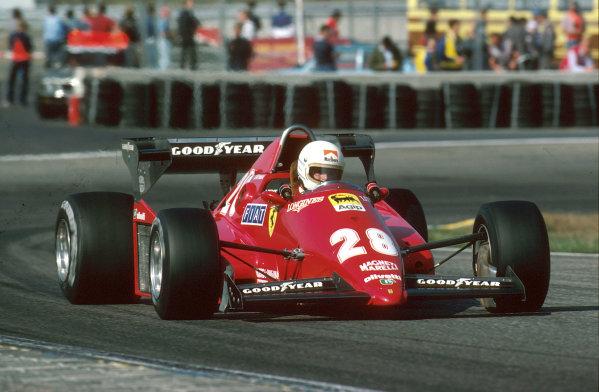 Zandvoort, Holland.26-28 August 1983.Rene Arnoux (Ferrari 126C3) 1st position.Ref-83 HOL 01.World Copyright - LAT Photographic