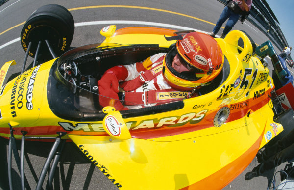 1992 Indianapolis 500. Indianapolis Motor Speedway, Indiana, USA. 24th May 1992. Gary Bettenhausen (Lola T9200-Buick), retired, in the pit lane, portrait.. World Copyright: LAT Photographic.
