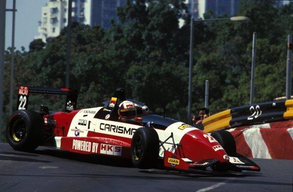 Juan Pablo Montoya (COL) Dallara HKS Mitsubishi.Macau Formula Three Race, Guia Circuit, Macau, 17  November 1996.