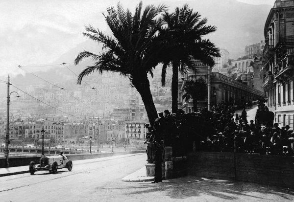 Monte Carlo.14 April 1929.Rudolf Caracciola (Mercedes-Benz SSK), 3rd position.Published-Autocar 19/4/1929 p794.World Copyright - LAT Photographic