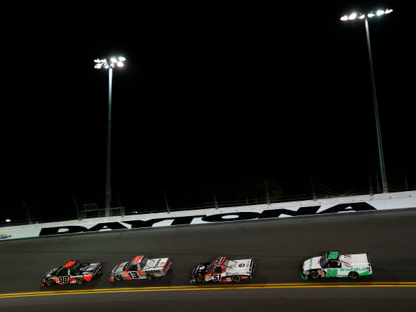 21-23 February, 2013, Daytona Beach, Florida, USA Subject:  Johnny Sauter leads Todd Bodine and Kyle Busch.(c) 2013, Michael L. Levitt LAT Photo USA