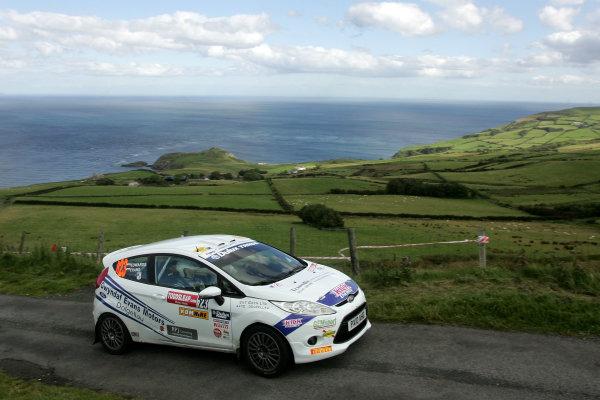Rally Northern Ireland. 20 - 21st August 2010.Elfyn Evans/Andrew Edwards - Gwyndaf Evans Motors Ford Fiesta ST.World Copyright: Ebrey/LAT Photographic.