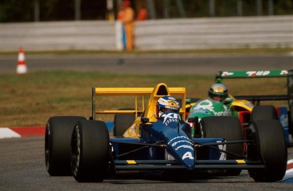 Jean Alesi (FRA) Tyrrell 018, 10th place.