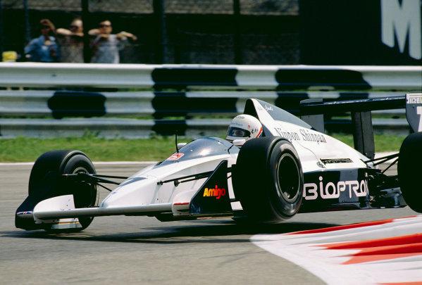 Monza, Italy.8-10 September 1989.Martin Brundle (Brabham BT58 Judd) 6th position.Ref-89 ITA 16.World Copyright - LAT Photographic