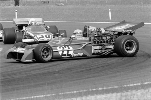 Clay Regazzoni(SUI) Ferrari 312B2 about to hit the spinning Nanni Galli(ITA) Tecno PA123 Belgian GP, Nivelles,  June 4 1972