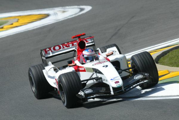 2004 San Marino Grand Prix-Friday Practice,Imola, Italy.23rd April 2004Jenson Button, BAR Honda 006, action.World Copyright LAT Photographic.ref: Digital Image Only