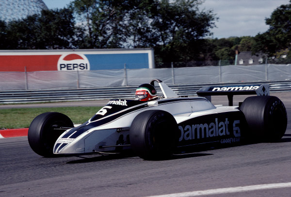 1980 Canadian Grand Prix.Montreal, Quebec, Canada.26-28 September 1980.Hector Rebaque (Brabham BT49 Ford).Ref-80 CAN 30.World Copyright - LAT Photographic