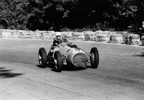 1951 Italian Grand Prix.Monza, Italy. 16 September 1951.Franco Rol (OSCA 4500G). Ref-51/50 #28.World Copyright - LAT Photographic