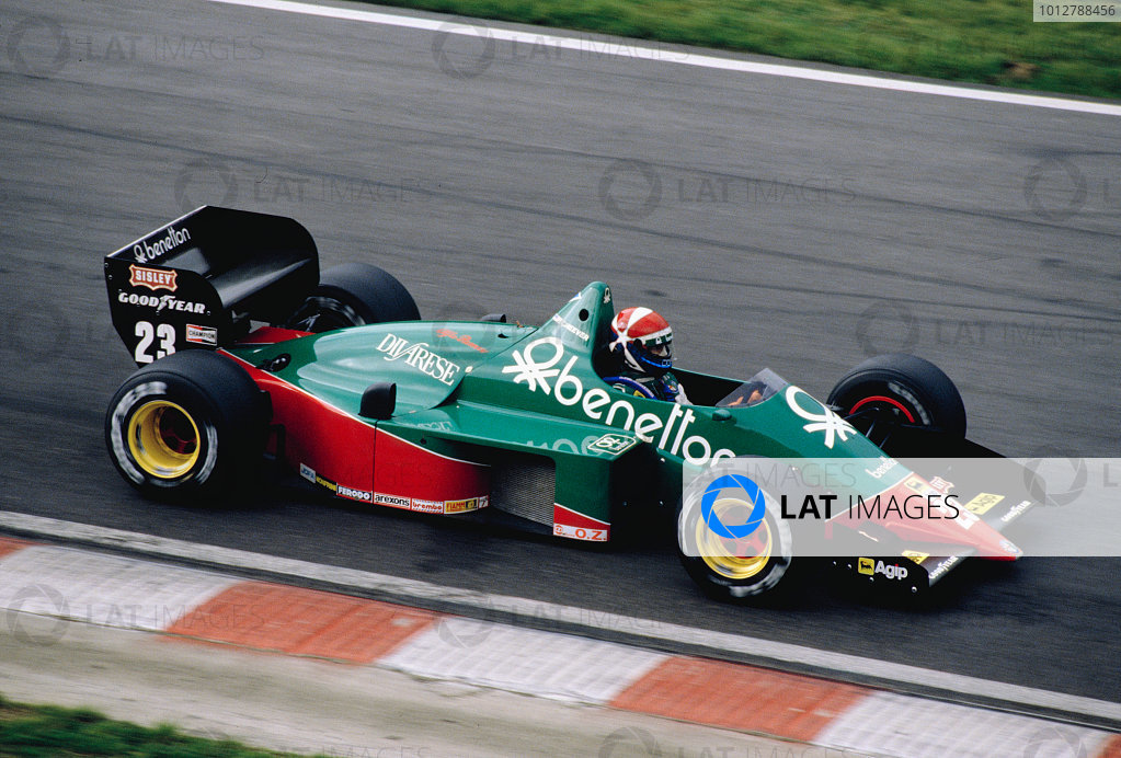 1985 Belgian Grand Prix.Spa-Francorchamps, Belgium.13-15 September 1985.Eddie Cheever (Alfa Romeo 184T).Ref-85 BEL 35.World Copyright - LAT Photographic