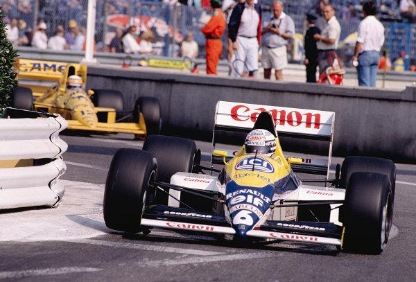 1989 Monaco Grand Prix.Monte Carlo, Monaco.4-7 May 1989.Riccardo Patrese (Williams FW12C Renault).Ref-89 MON 53.World Copyright - LAT Photographic