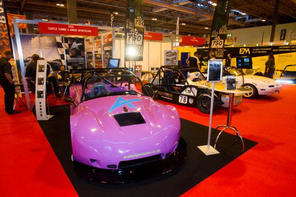 Autosport International Exhibition. National Exhibition Centre, Birmingham, UK. Thursday 8 January 2015. The Castle Combe and Avatar Sportscars stand. World Copyright: Mike Holyer/Jakob Ebrey/LAT Photographic. ref: Digital Image EL0G3116
