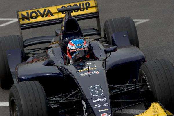 2005 GP2 Series - MonacoMonte-Carlo. 20th & 21st MaySaturday - RaceAdam Carroll (GB, Super Nova International). Race winner. Action. Photo: GP2 Series Media Serviceref: Digital Image Only.